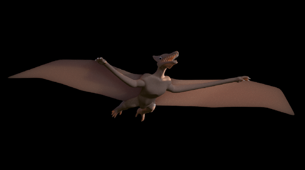 Our 3D model of a pterodactyl